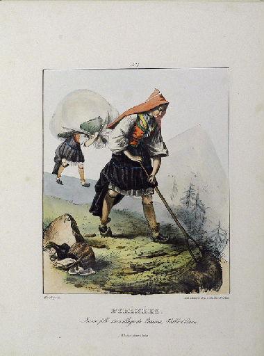 Pyrénées, jeune fille du village de Laruns_0