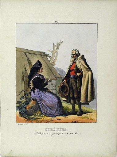 Pyrénées, riche pasteur et jeune fille aux Eaux-Chaudes