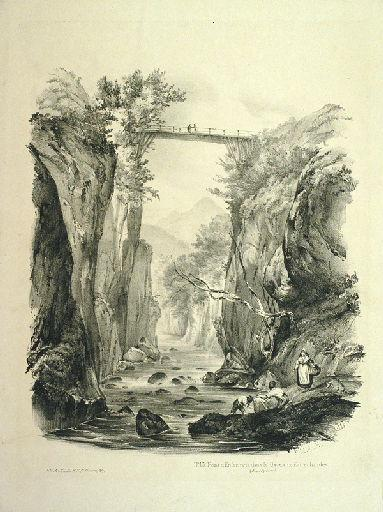 Pont d'Enfer, pris dans le Gave, aux Eaux chaudes._0