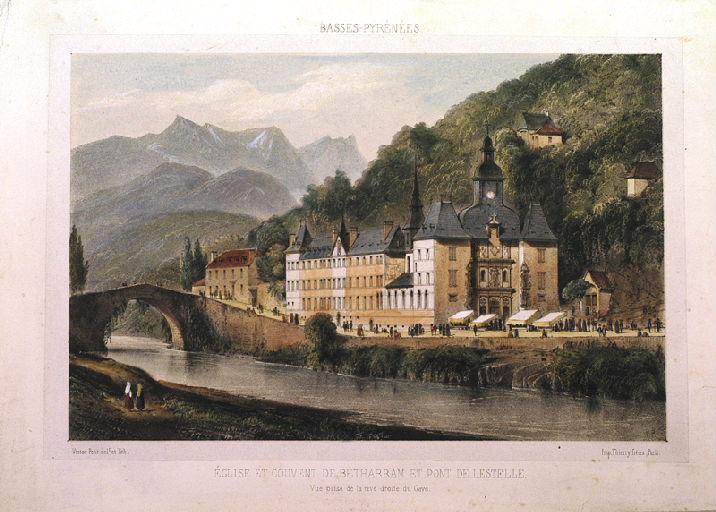 Eglise et couvent de Bétharram et pont de Lestelle