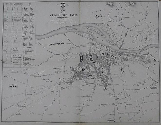 Plan de la ville de Pau et de ses environs