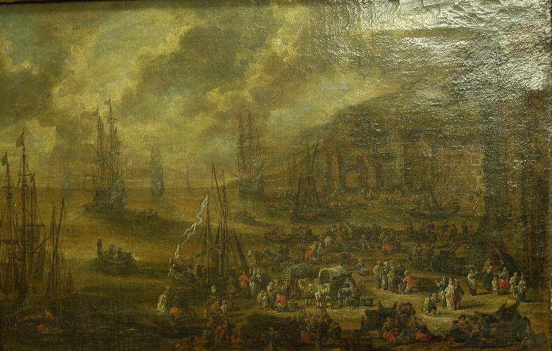 CASTEELS Pieter II : Port de mer