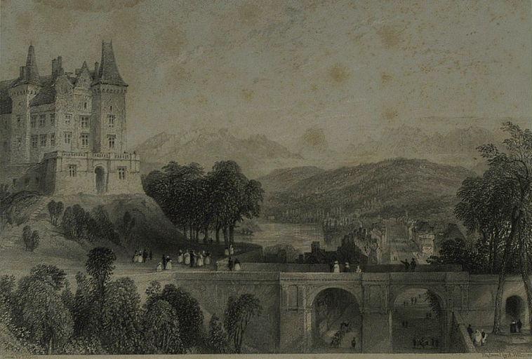 Castle of Pau, the birth-place of Henri Quatre