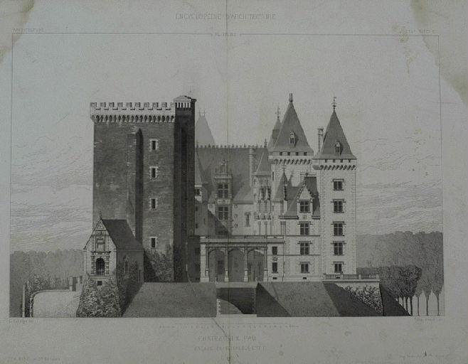 Château de Pau, façade est_0