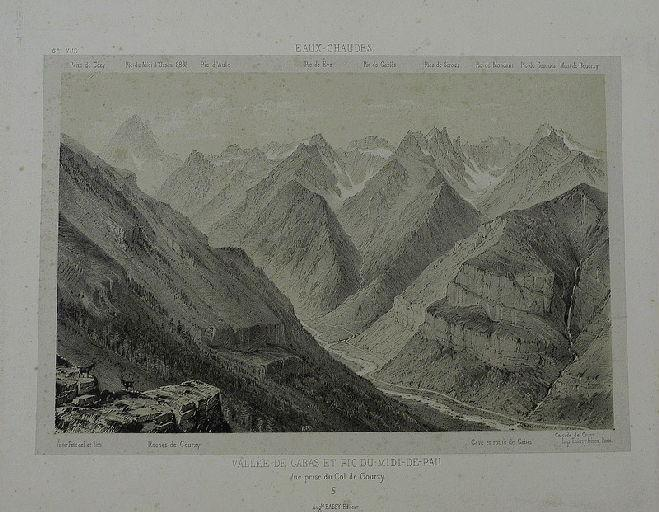 Vallée de Gabas et Pic du-Midi-de-Pau, vue prise_0