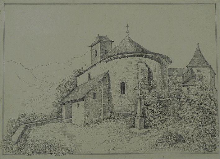 Eglise d'Assouste près des Eaux bonnes_0