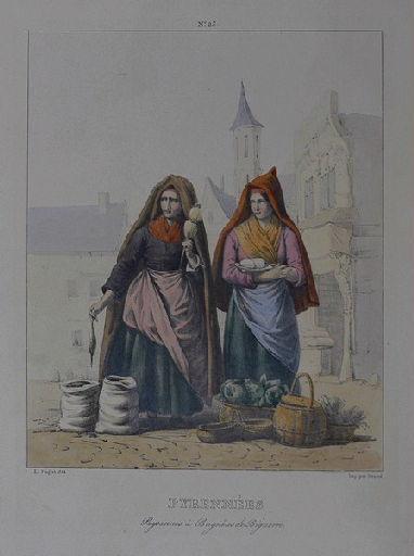 Pyrénées. Paysannes à Bagnères de Bigorre._0