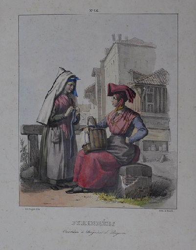 Pyrénées. Ouvrières à Bagnères de Bigorre._0
