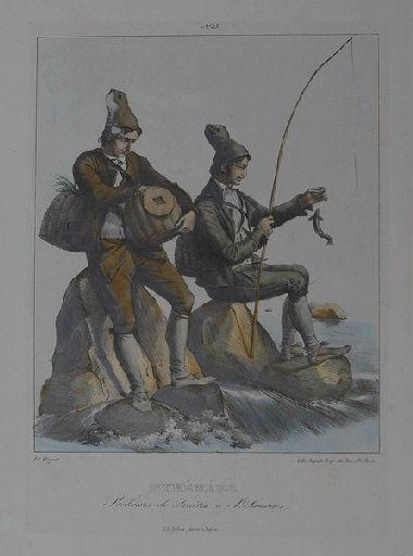 Pyrénées. Pecheurs de Truites à St Sauveur._0