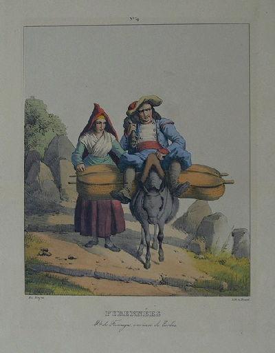 Pyrénées, marchands de Fromages, environ de Tarbes._0