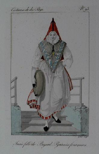 Jeune fille de Bugard. Pyrénnées françaises._0