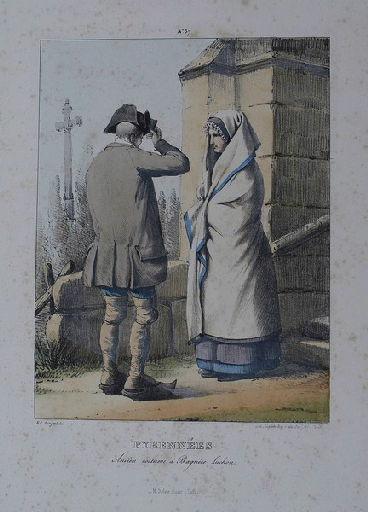 Pyrénées : ancien costume à Bagnère de Luchon._0