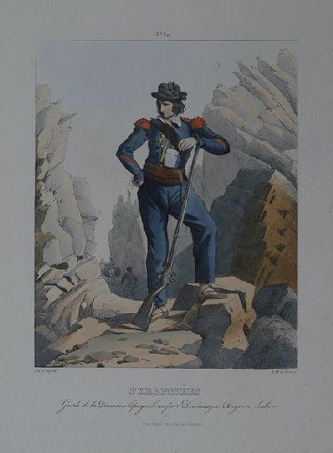 Pyrénées : Garde de la Douane Espagnole au port de Vénasque. Bagnère-de-Luchon.