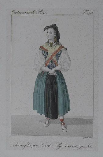 Jeune fille de Tourle. Pyrénées espagnoles._0