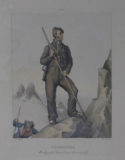 Pyrénées : Charlet, guide de Ramond, au pic du mont perdu_0