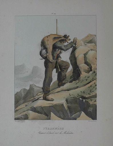 Pyrénées : chasseur d'Isard sur la Maladetta._0