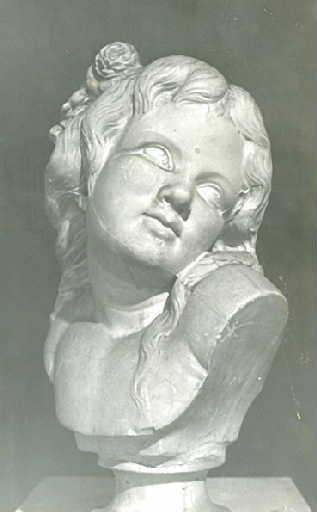 MATHET Louis Dominique : Buste de petite fille