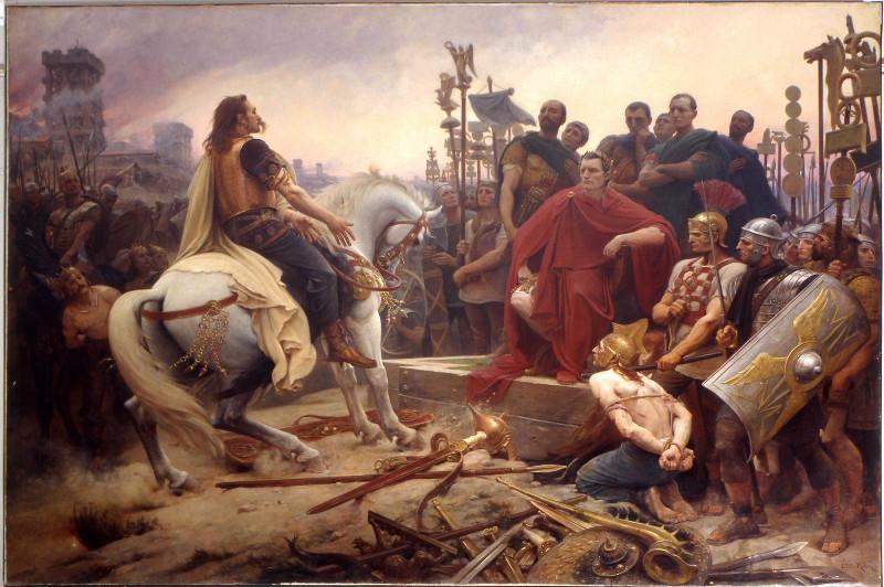 Vercingétorix devant César ; Vercingétorix jette ses armes aux pieds de César_0