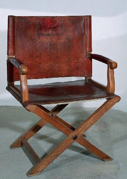 anonyme : fauteuil (pliant)