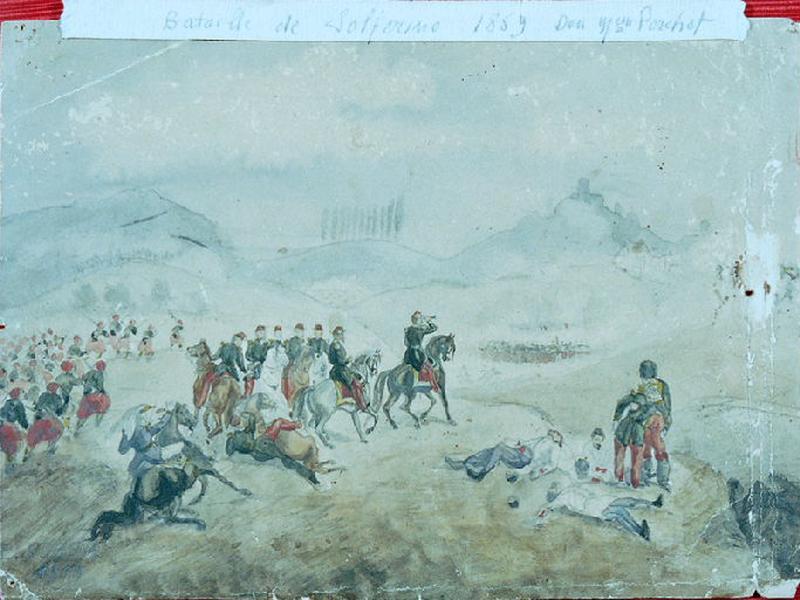 Napoléon III à la bataille de Solférino