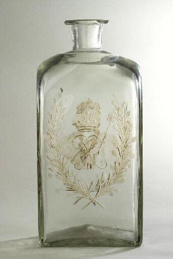 ORLOV F G (fabrique, verrier) : bouteille, élément d'ensemble