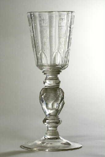 anonyme (verrier) : verre (à pied, 2), ensemble