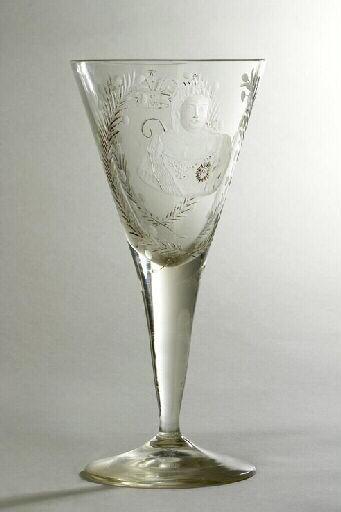 anonyme (verrier) : verre (à pied), ensemble