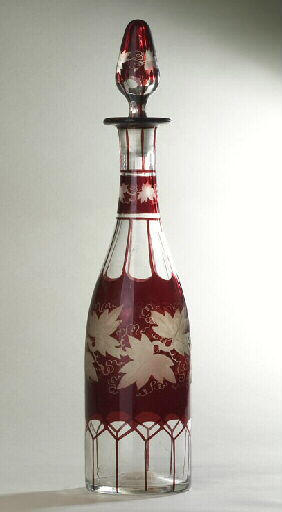 anonyme (verrier) : bouteille, élément d'ensemble
