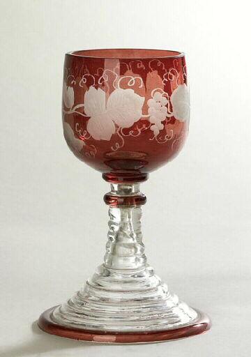 anonyme (verrier) : verre, élément d'ensemble
