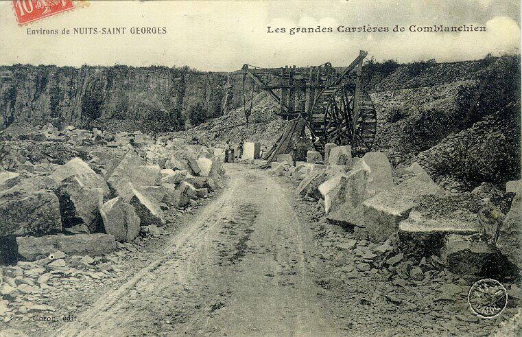 anonyme (photographe), CORON C (éditeur) : Environs de Nuits-Saint-Georges - carrières de Comblanchien