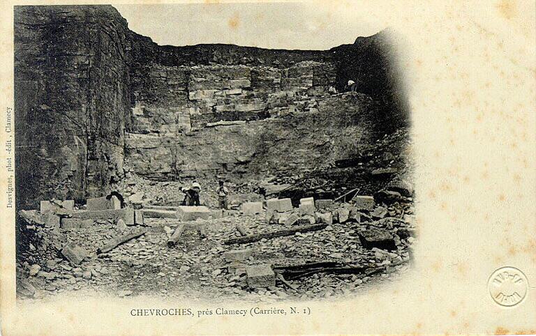 Chevroches près Clamecy - carrière