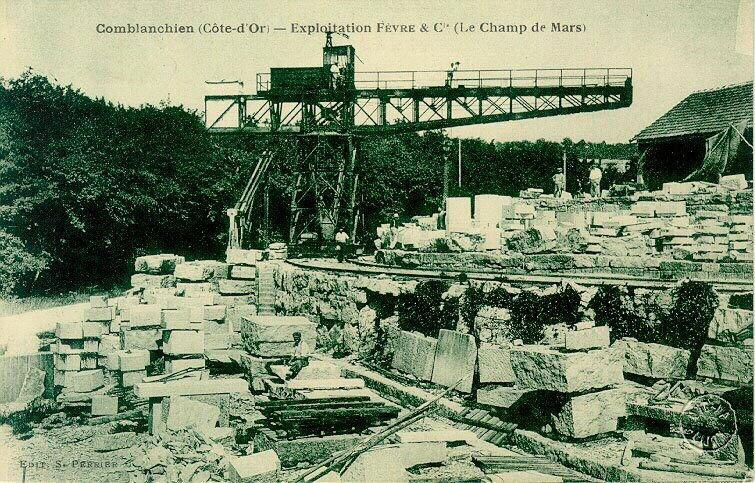 anonyme (photographe), PERRIER S (éditeur), UNION PHOTOTYPIQUE PARISIENNE (imprimeur) : Environs de Nuits-Saint-Georges - carrières de Comblanchien