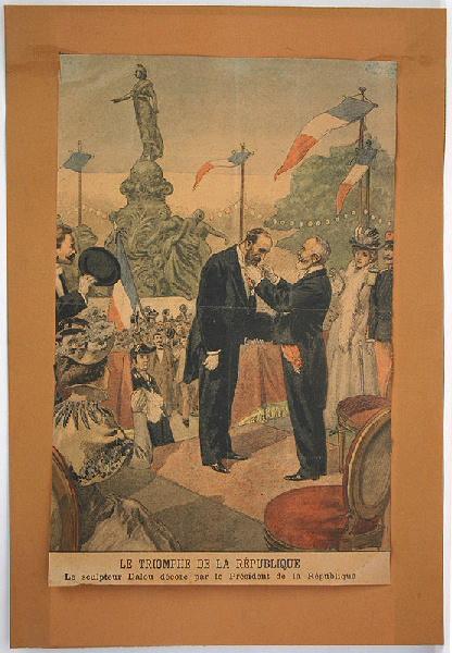 Illustration 'Le triomphe de la République' (le sculpteur Dalou décoré par le président de la République)_0