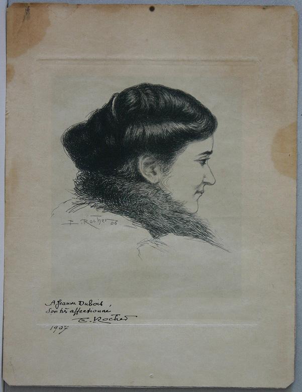 Portrait de Jane Fernand-Dubois de profil_0