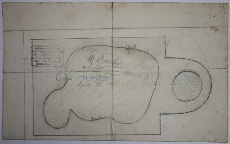 Plan au sol d'un monument (?)