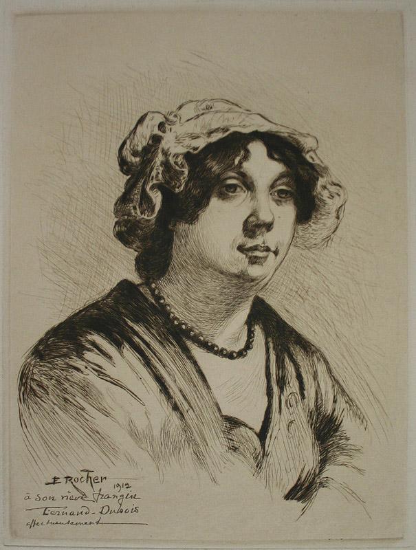 Portrait de femme avec une coiffe en dentelle_0