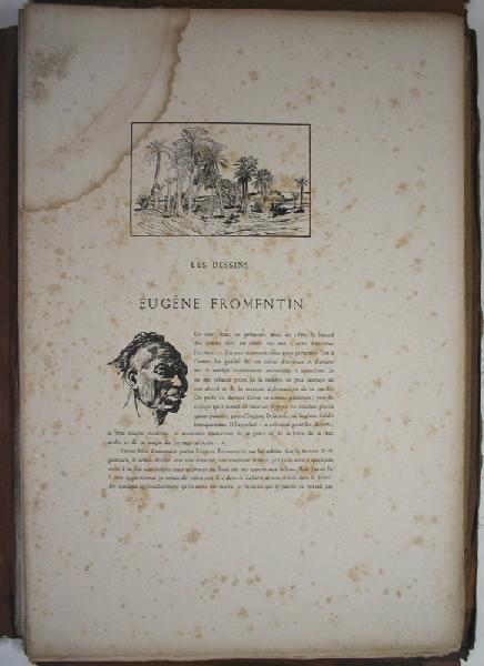 MONTEFIORE Edward Lévy : Biographie et recueil d'eaux-fortes d'après des dessins d'Eugène Fromentin