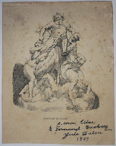 DALOU Jules : Illustration Le triomphe de Silène