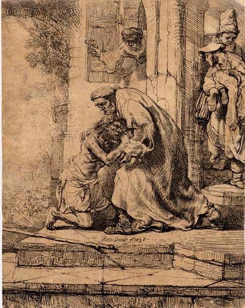 REMBRANDT : Le retour de l'enfant prodigue