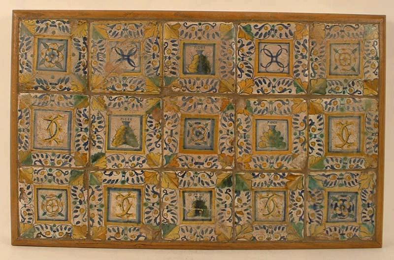 CONRADE Augustin (attribué à), GAMBIN Jules (attribué à), manufacture le logis du prieur de St-Gildas : carreau de pavement (15)