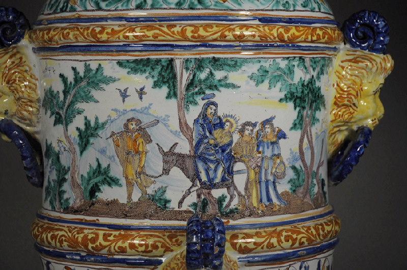 SALOMON Bernard (d'après, graveur), manufacture indéterminée : La fuite en Egypte, Jésus et la Samaritaine