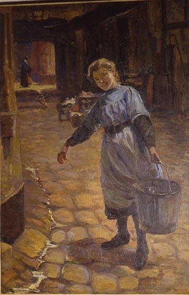 Dans la vieille cour ; La porteuse d'eau_0