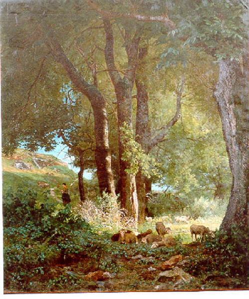 La scierie à Corbigny ; Sous les arbres (autre titre)