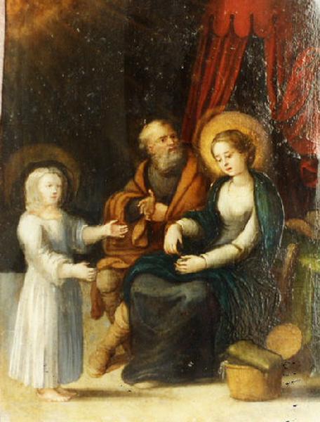 Sainte Anne, saint Joachim et la Vierge Marie ; La Sainte Famille Nativité (autre titre)