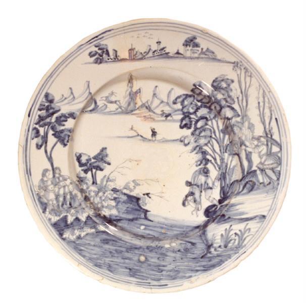 RABEL Daniel (d'après, dessinateur), manufacture indéterminée : Céladon se jetant dans les flots du Lignon