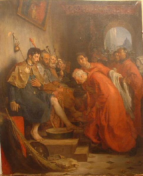 Le Lavement des pieds à Rome ; Une cérémonie de l'année sainte, à Rome (autre titre)