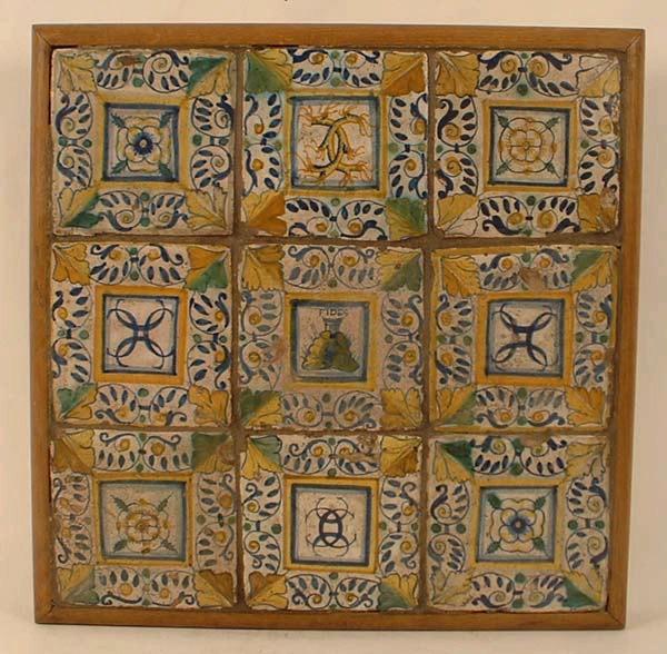 CONRADE Augustin (attribué à), GAMBIN Jules (attribué à), manufacture le logis du prieur de St-Gildas : carreau de pavement (9)