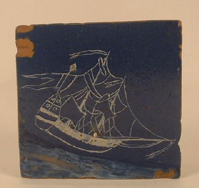 Caravelle voguant sur la mer