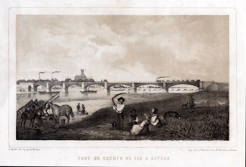 Pont du chemin de fer à Nevers