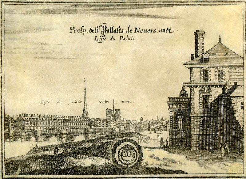 MERIAN Kaspar (graveur), MATTHAUS MERIAN SEEL ERBEN (éditeur) : Hôtel de Nevers à Paris
